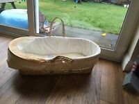 moses basket and rocking stand Used a couple of times