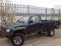 TOYOTA HILUX SINGLE CAB 4X4 2.5 DIESEL MANUAL GREEN