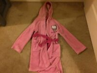 Hello Kitty Dressing Gown with Hood Age 4-6yrs,110-116cms