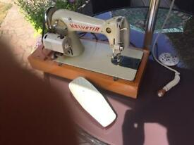 Vintage Helvetia Sewing Machine.