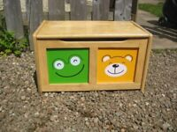 Colourful wooden toy box
