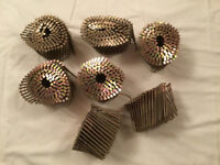 approx 1400 ring nails for coil nailer 88mm / 90mm long round flat head