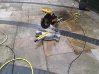 DEWALT DW708LX 110v chop saw
