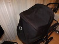 bugaboo cameleon 3 ,black limited edition frame , black seat unit+ black hood ,grey cosy ,raincover