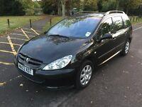 2003 Peugeot 307 SW 1.6 LX 5dr HPI Clear @07445775115