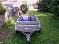 ERKA road trailer 13 inch wheels, L2.35M W 1M
