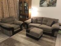 Heath sofa 3 seater , arm chair and storage footstool