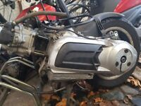 piaggio vespa 125 engine full with the back wheel complete no carb