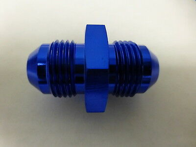 Russell 660360  Male Union Adapter Male Flare Fitting AN8 -8 # 8 AN 8AN Blue