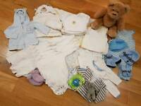 Bundle of 3-6 months used Baby clothes and toys