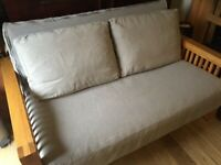 2 Seater Solid Oak Futon Sofa Bed, Great condition- SAME DAY DELIVERY