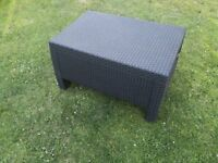 Dark brown rattan garden/conservatory table £28