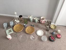 (sold separately or together) Lots of decorative items vases candles etc