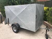 """7ft 6"""" x 4ft factory built galvanised box trailer"""