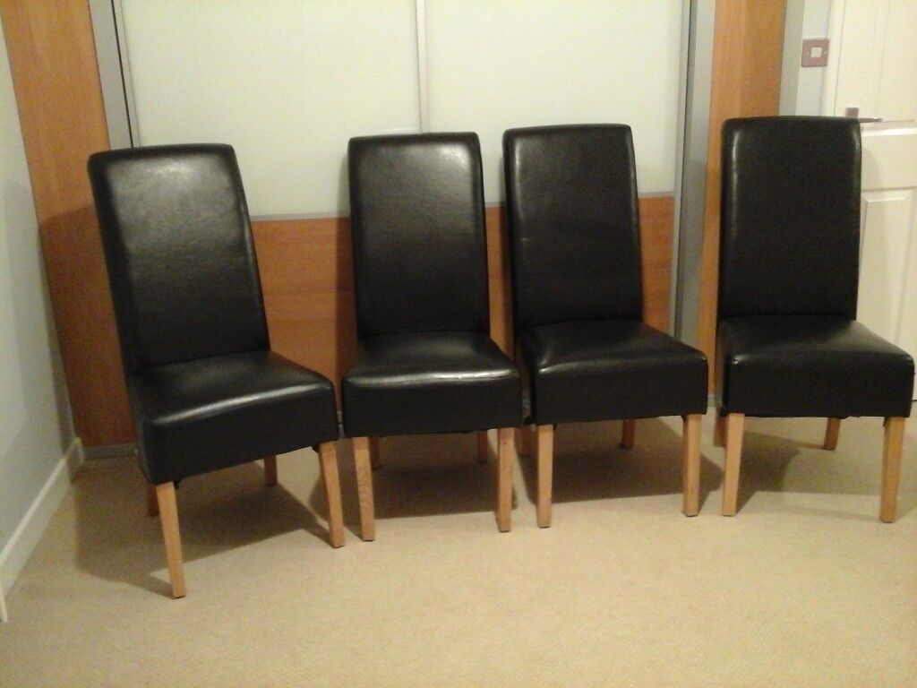 Faux Leather Dining Room Chairs X 4 In Malton North Yorkshire