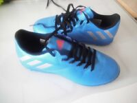 1 PAIR OF MESSI FOOTBALL BOOTS & 1 PAIR OF MESSI TRAINERS