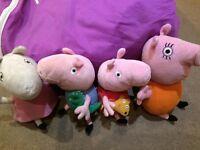 Peppa pig cuddly toys