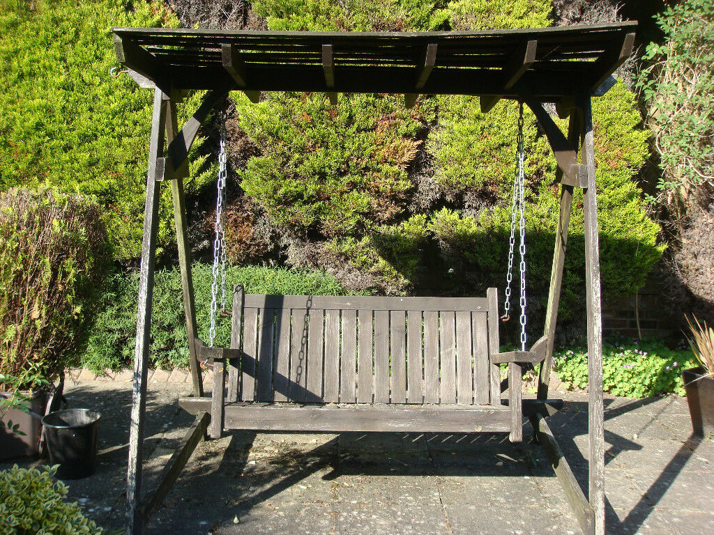 Wooden Garden Swing Seat In Ringwood Hampshire Gumtree