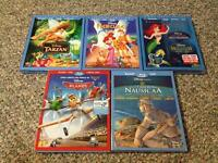 Factory Sealed Disney Blu-rays