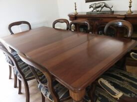 Reproduction Solid Oak table and chairs