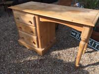 SOLID PINE DESK WITH 3 DRAWS