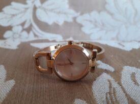 DKNY Rose Gold Plate Bracelet Watch