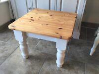 Solid pine chunky coffee table