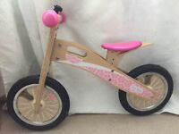 Tidlo pink balance bike - in excellent condition.