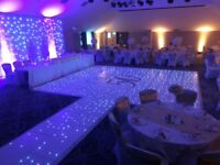 Led dancefloor hire £300