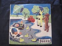 """Rare 3 x 78 rpm Record Set """"How Radio Came To Toytown"""" - Decca c 1947 Excellent Condition"""