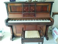 Lovely Robert Morley & Sons Upright Piano and Stool