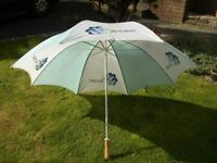 Large Golfing Umbrella and extendable 9 ft Ball Retrieving Pole
