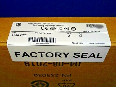 2019 Factory Sealed Allen Bradley 1756-of8 A Analog Output Controllogix
