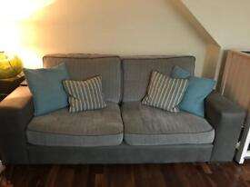 Grey sofa's (two available) £100 each Ono