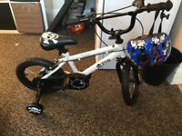 bicycle for kids with a helmet