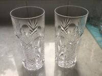 Two Cut Glass Tumblers