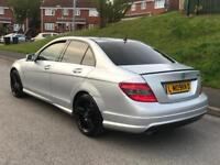 2009/09 Mercedes Benz C220 2.1 Cdi Amg Sport Xenons Sat nav Heated Leather Swaps/Px
