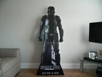 Fantastic 6ft High Cardboard Cut out of a Star Wars Stormtrooper