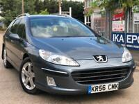 Peugeot 407 SW 2.0 HDi SE 5dr PANORAMIC SUNROOF FSH LONG MOT PX WELCOME