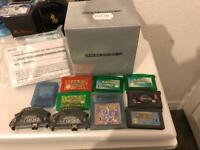 Boxed Gameboy Advance SP with Pokemon games + Yoshi Island & More