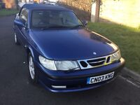 Saab 93 se 2.0 turbo convertible 2003 facelift model mot February only one owner from new