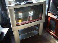 """sharp 32"""" colour tv(baulky back type) with seperate freeview box."""