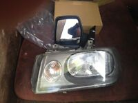 Wing mirror/Headlight.Peugeot Expert 2004.