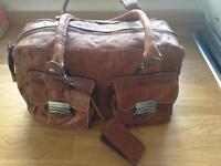 Tommy Hilfiger tan leather handbag