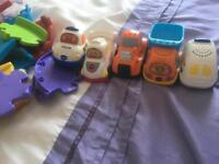 Toot toot track and 5 cars. Toddler toys
