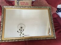 Bevelled Edge Wall Mirror Antique Style Frame Great Condition