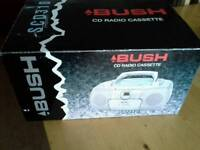 Bush Brand New Radio/Cassette/CD Player