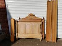 Vintage wooden 4ft small double bed