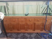 fish tank 8x3x30 solid pine base