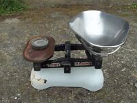 Vintage Avery Weighing Scales and 1lb Brass Weight